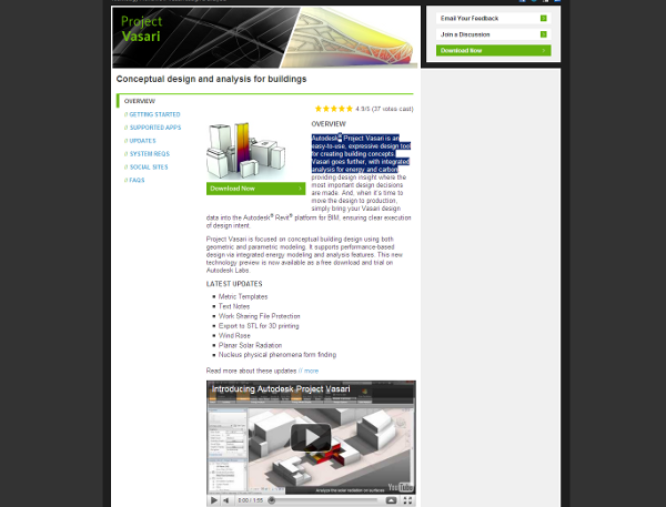 Visit AUTODESK Vasari project's web site !