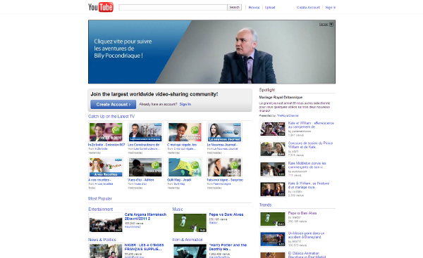 Visit Youtube web site !