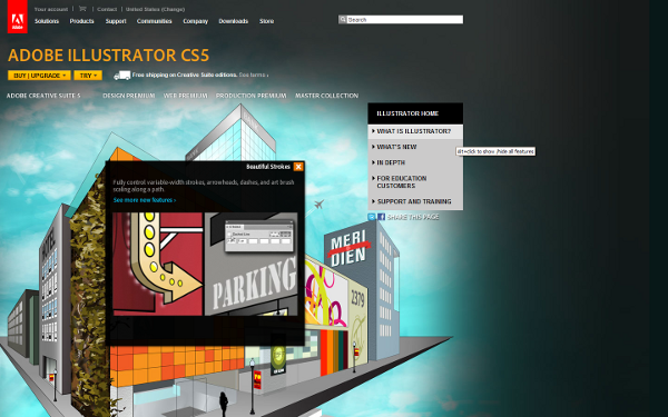Go to the ADOBE Illustrator product page !